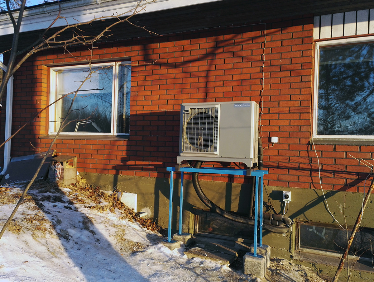 Jäspi Tehowatti Air 8 kW ulkoyksikkö valmis asennus