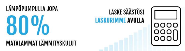 Lämpöpumppu Säästölaskuri - LVI-Nero Oy
