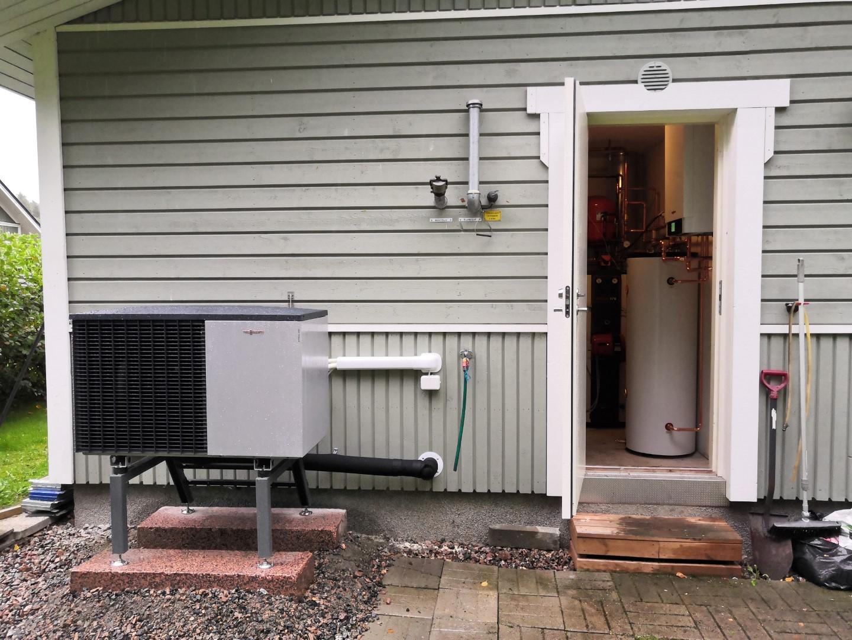 Viessmann Vitocal 200-S 8 kW ilma-vesilämpöpumpun asennus - Laukaa, Keski-Suomi