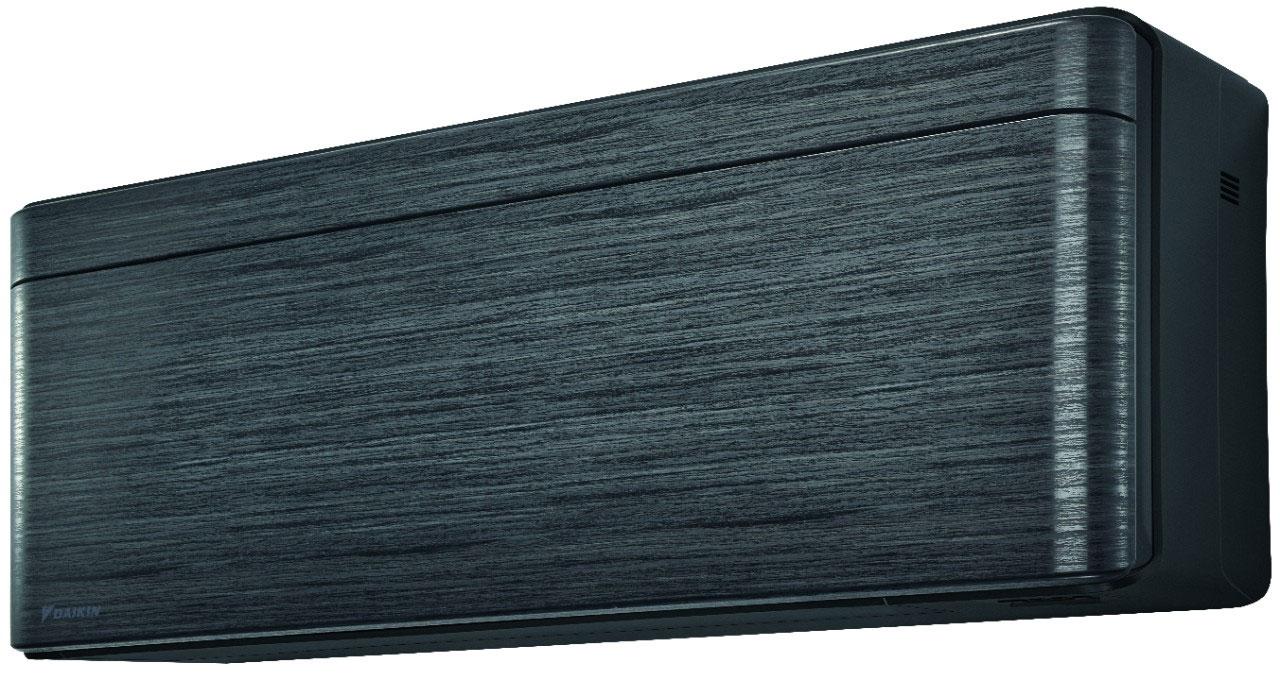 Daikin Stylish Cool ilmalämpöpumppu, sisäyksikkö etuviistosta (Musta puukuvioitu) - Jyväskylä, Keski-Suomi - LVI-Nero Oy